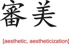 Chinese Sign for aesthetic, aestheticization - stock illustration