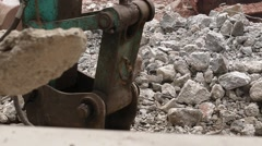 Excavator in action Stock Footage