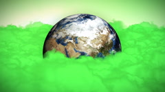 Earth and Pollution Clouds Stock Footage
