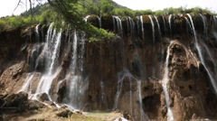 A beautiful waterfall in jiuzhaigou valley national park in china Stock Footage
