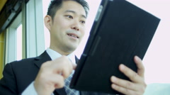 Ethnic Advertising Executive Tablet Technology Portrait - stock footage