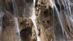 Pretty waterfall in jiuzhaigou valley national park in china Stock Footage