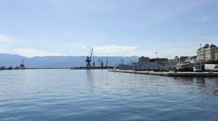 Rijeka - Croatia - old port Stock Footage