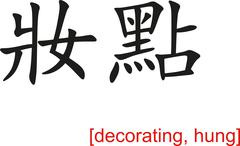 Chinese Sign for decorating, hung - stock illustration