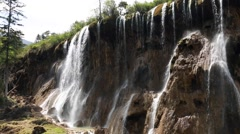 A beautiful waterfall at jiuzhaigou valley national park in china Stock Footage