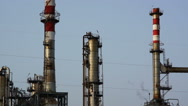 Stock Video Footage of Petrochemical processing plant