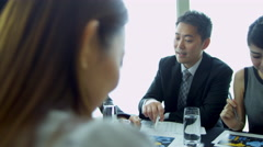 Asian Chinese Business Focus Group Future Planning Stock Footage