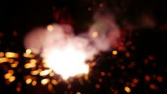 Slow Motion Sparks and Smoke Stock Footage
