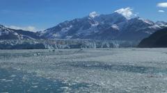 Icy sea in Hubbard glacier - Alaska Stock Footage