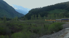 train in the mountains - Alaska - stock footage