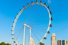 Giant ferris wheel singapore flyer Stock Photos