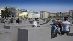 Holocaust Memorial in Berlin, Germany - stock footage