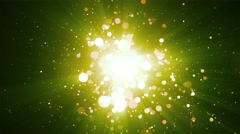 Green Particles Abstract Background Stock Footage