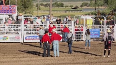 Tanner muttin bustin rodeo ride 720 HD Stock Footage
