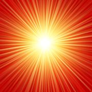 Stock Illustration of Realistic sun burst with flare. Vector illustration with spare for your text.