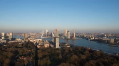 Rotterdam city center skyline afternoon 01 Stock Footage