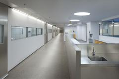 Interior of a hospital emergency Stock Photos
