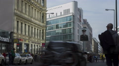 Checkpoint Charlie in Berlin, Germany - stock footage