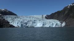 Getting closer to glacier - Kenai Fjords, Alaska Stock Footage