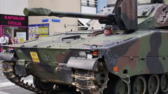 Dutch military vehicle Stock Footage