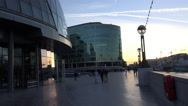 Stock Video Footage of More London Riverside at sunset