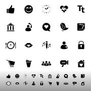Stock Illustration of chat conversation icons on white background