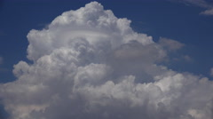 4K Time Lapse Fluffy Monsoon Clouds Peak In Blue Sky Stock Footage