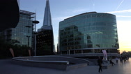 Stock Video Footage of The Shard The Scoop and More London Riverside