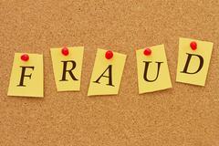 Fraud notice Stock Photos