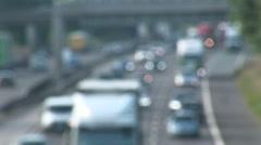 Defocused timelapse of traffic on Freeway Stock Footage