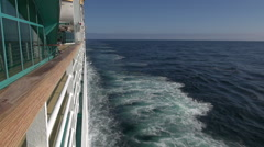Cruise ship floating at sea - Ocean view from ship Stock Footage