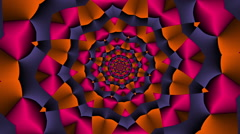 Rotating Star square with color changes Red - LoopNeo VJ Loops HD 1920X1080 Stock Footage
