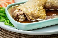 roasted chicken drumstick - stock photo
