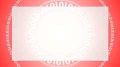 Digital red code background 5 Stock Footage