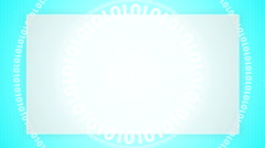 Digital light blue code background 7 Stock Footage