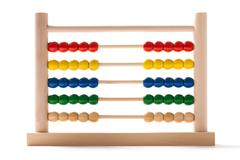 Abacus - fifty-fifty Stock Photos