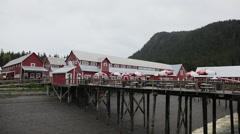 Port of Icy Strait. Fisherman and whale hunting village - Alaska Stock Footage