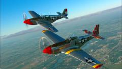 P-51 Mustang Formation Stock Footage