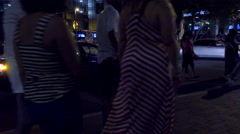 4K UHD indecisive pedestrians urban area sidewalk Stock Footage