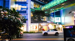 4k Ultra HD time lapse video on Orchard Road, Singapore(TL-ORCHARD RD 106) Stock Footage