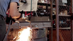 Acetylene Torch Metal Cutting Stock Footage
