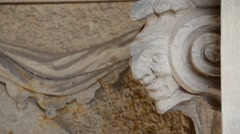 Old Dresden Zwinger fortress sculpture detail Stock Footage