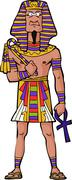 ancient egyptian pharaoh - stock illustration