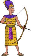 ancient egyptian warrior - stock illustration