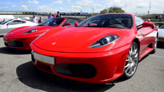 Ferrari F430 and F430 spider Stock Footage