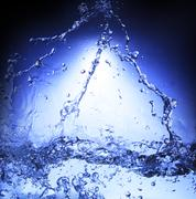 free form of blue splashing water use for nature background ,backdrop,and ref - stock photo