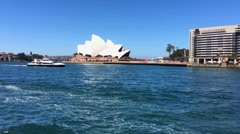 The Opera house in Sydney, Australia Stock Footage