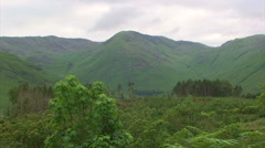 Pan right on forest in the highlands Stock Footage