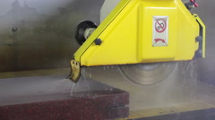 Cutting stone with big machine. Stock Footage