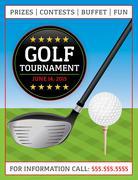 Stock Illustration of golf tournament flyer